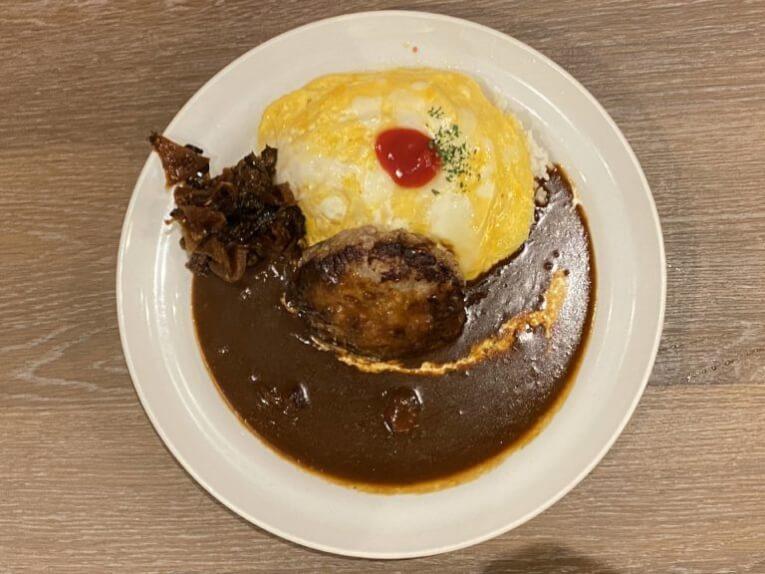 マイカリー食堂赤坂店|ハンバーグオムレツカレー(赤坂)