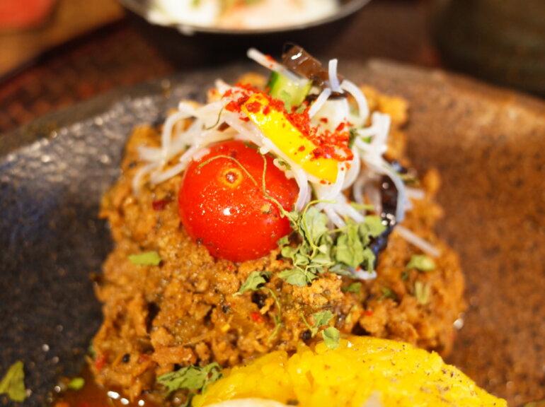 胡瓜とズッキーニのエビ春雨と食べる3種バジルのガパオ鶏キーマ